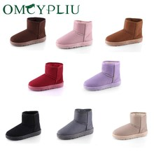Snow Boots Women Winter Ladies Ankle Boot Fashion Plus Size Pink Female Platform Booties Keep Warm Shoes Woman Botas mujer