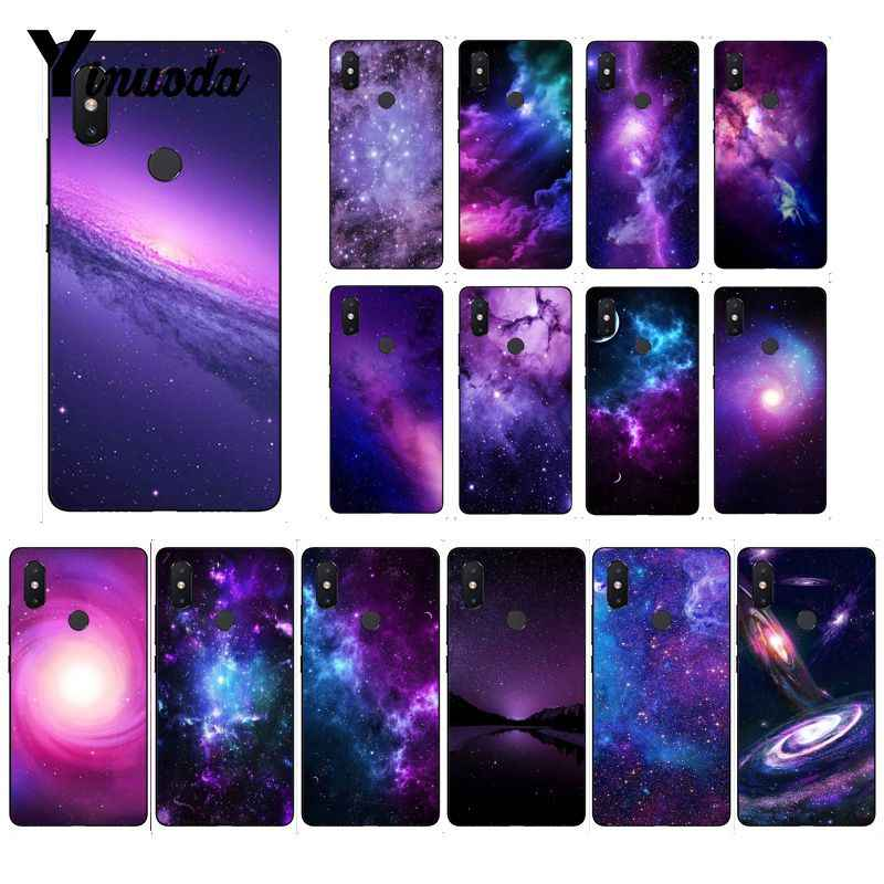 Yinuoda interstellar Purple Space Star Soft Case สำหรับ Xiao Mi Mi 6 Mi X2 Mi x2S 5A 6A 7A สีแดง Mi 5 note5 Note7 8pro