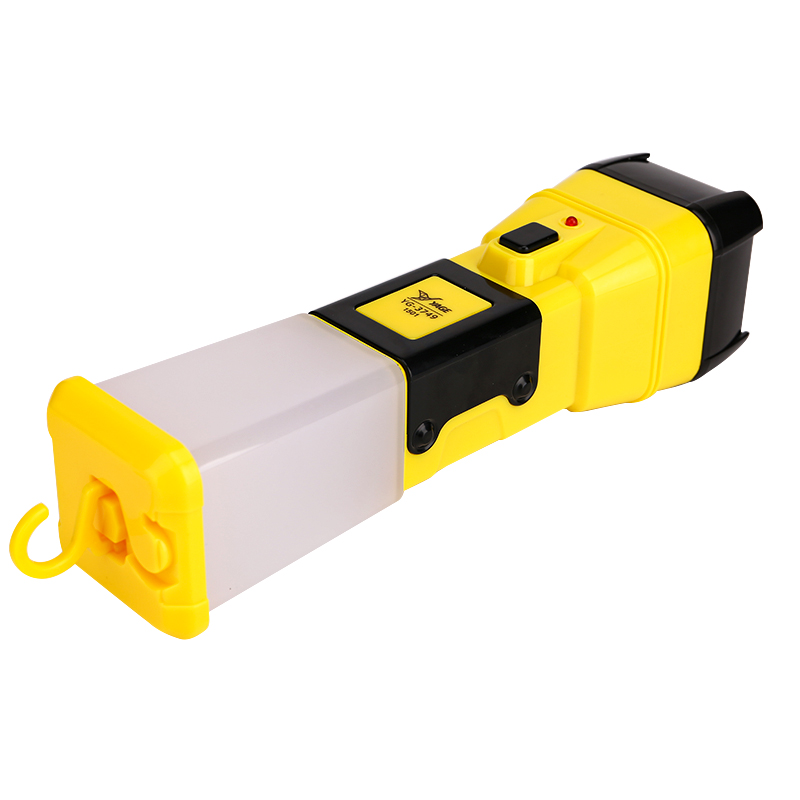 Купить с кэшбэком YAGE 3749 Flashlight Night Light Double Lanmp 2-Modes LED Torch Literna Laterna 600mAh Battery Inside Lampe Torche for fiashing