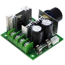 Controlador de velocidad del Motor de CC PWM de 12V, 24V, 36V, 10A, con interruptor de perilla, módulo de regulador de intensidad ajustable, controlador de regulador de motores de 400W