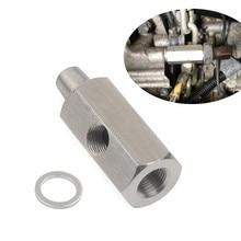 Adaptador del sensor de presi/ón de aceite M10 Indicador de presi/ón de aceite T a adaptador NPT Suministro de turbo de acero inoxidable