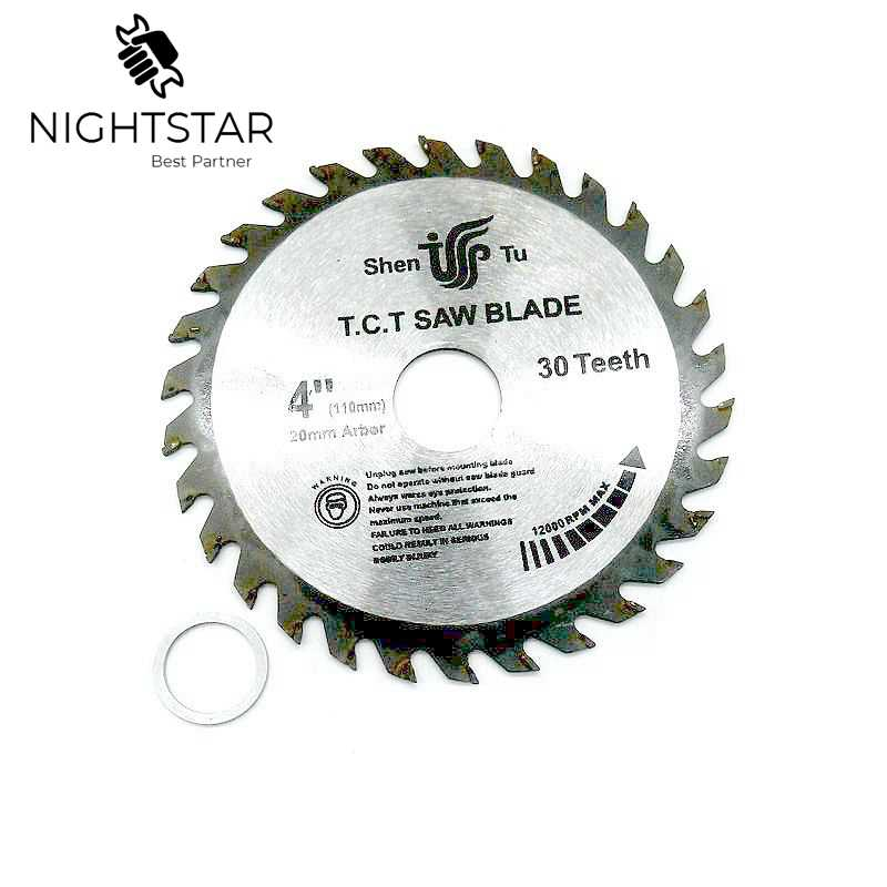 4 Inch 30Teeth Circular Saw Blades Tungsten Steel Alloy Saw Blades For Wood Aluminum Cutting 110mm TCT Saw Blades