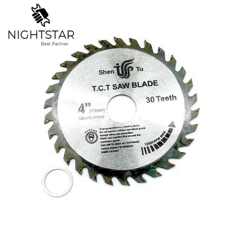 4 Inch 30Teeth Circular Saw Blades Tungsten Steel Alloy Saw Blades For Wood Aluminum Cutting 110mm TCT Saw Blades