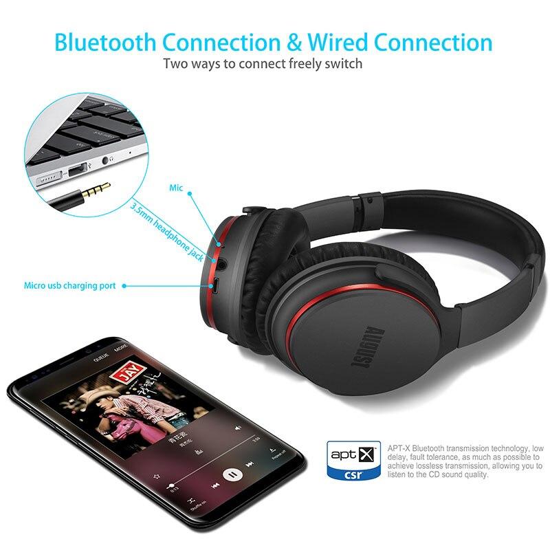 EP735 Aktive Noise Cancelling Bluetooth Kopfhörer Drahtlose mit Mic Bluetooth 4,1 Stereo ANC Headset für Luft Reise aptX - 5