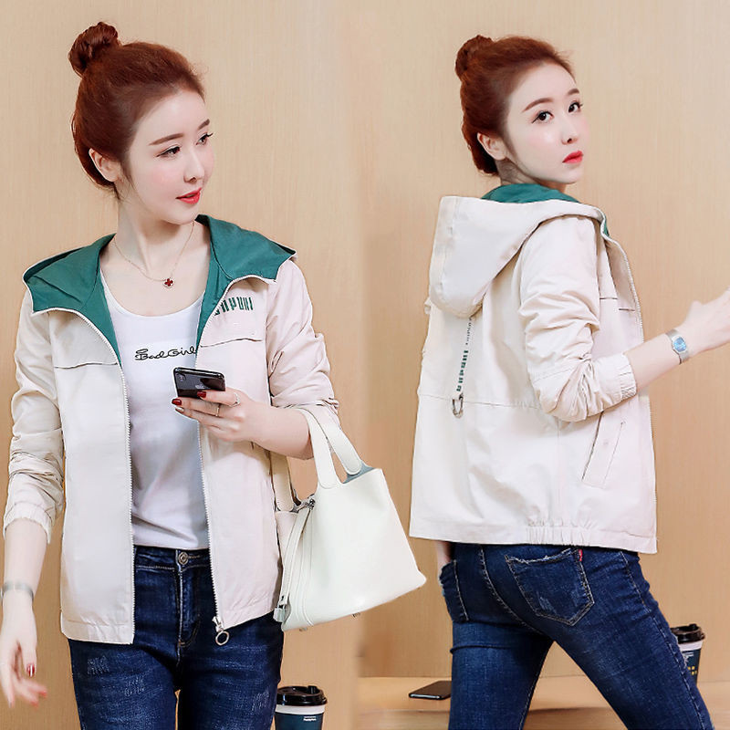 2020 New Spring Autumn Women Coat Long Sleeve Windbreaker Female Causal Zipper Hooded Women's Jackets Coats Outwear Plus Size