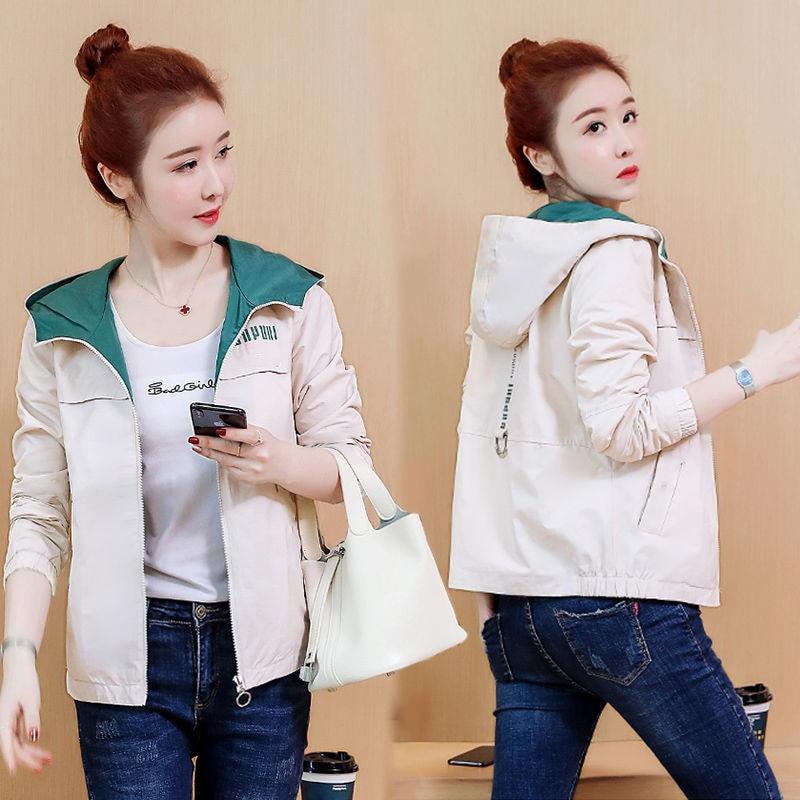 2020 New Spring Autumn Women Coat Long Sleeve Windbreaker Female Causal Zipper Hooded Women's Jackets Coats Outwear Plus Size