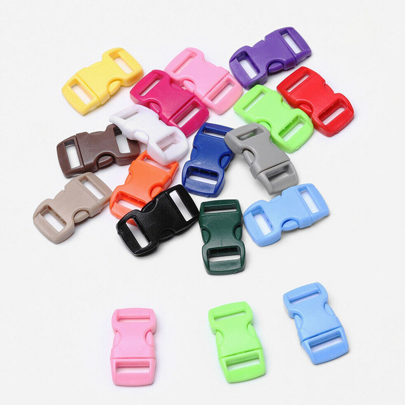 3//8/'/' Curved side release plastic Buckle for Paracord Bracelets-pick qty 10mm