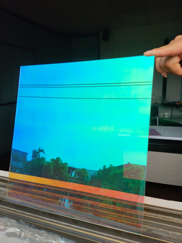 Sunice efekt tęczy holograficzna dekoracja okienna opalizująca szklana naklejka Home office mall dekoracja ze szkła 1 38x6m tanie i dobre opinie 10 -20 60 -80 Rainbow Effect Holographic window Film 2 6kg Dekoracyjne folia i tatuaże 1 38m Heat Insulation Explosion-Proof Decorative