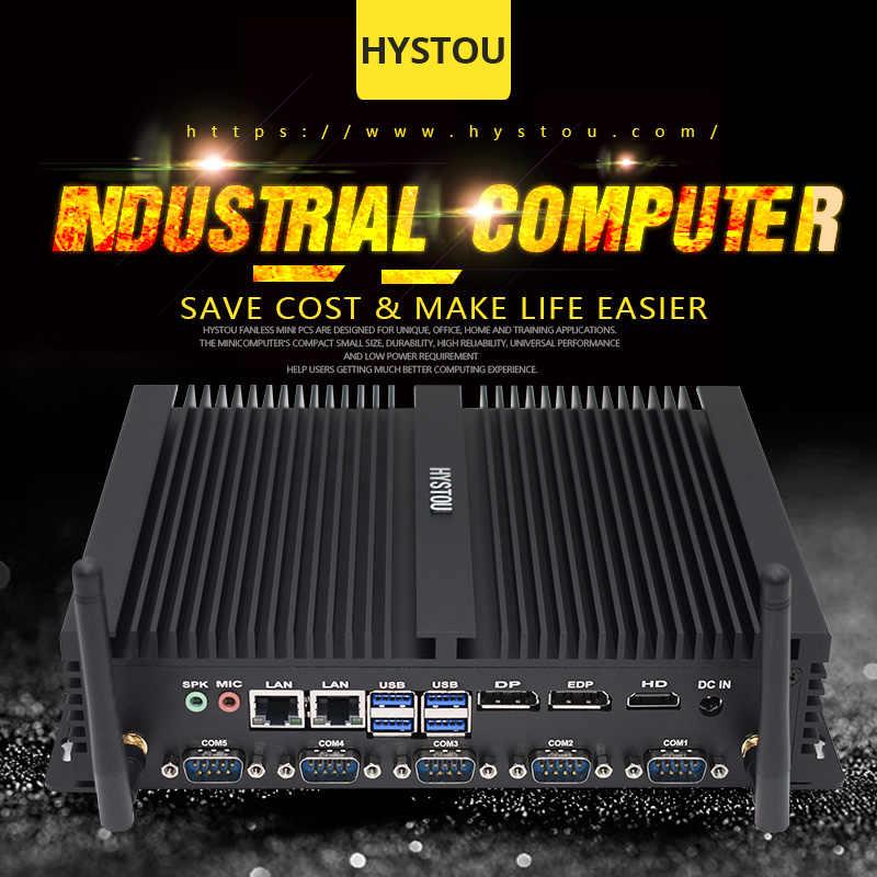 8. Generación DDR4 ordenador de sobremesa Industrial sin ventilador núcleo i7 8550U Mini ordenador Industrial Core i5 8250U 2 Intel NUC LAN HDMI DP EDP
