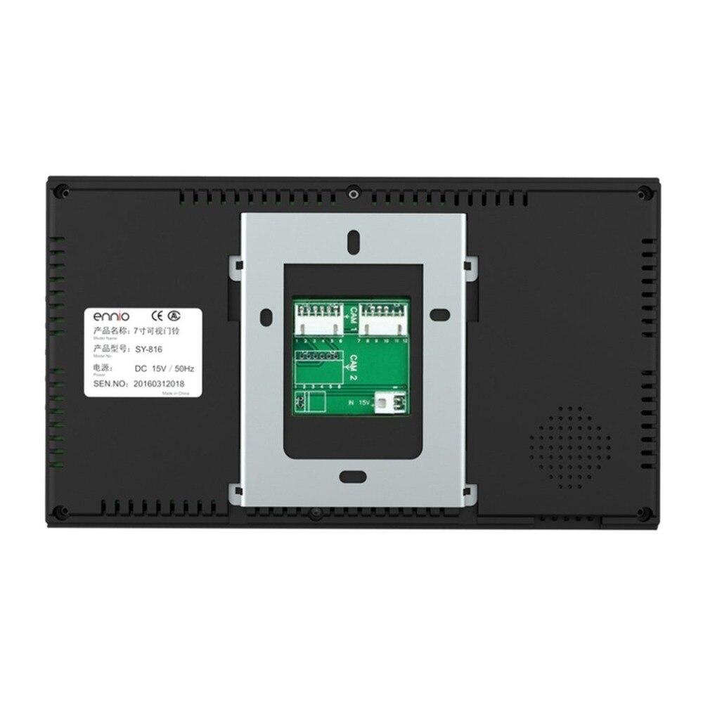 7 дюймов проводной дверной звонок RFID пароль видео домофон дверной звонок с ИК камерой HD tv Line система дистанционного управления - 4