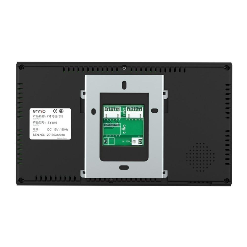 7 pouces filaire sonnette RFID mot de passe vidéo porte téléphone interphone sonnette avec caméra IR HD TV ligne système de télécommande - 4