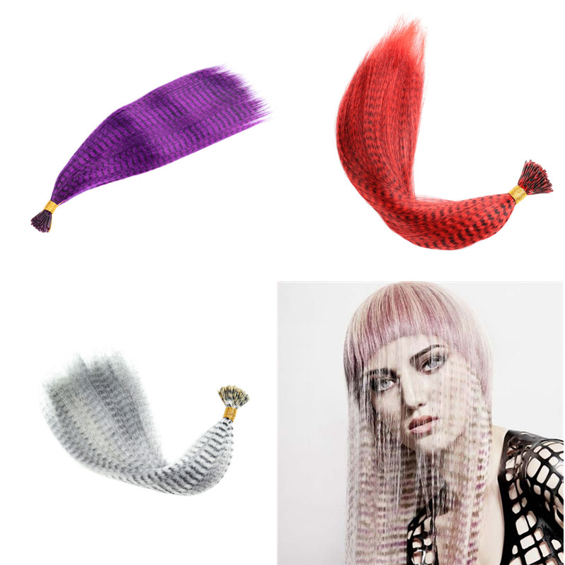10pcs/pack Colorful Charming Feathers Hair Extensions Long Straight Hairdressing Supplies Feather Hair Extension Bundle