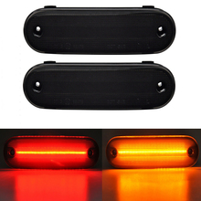 4 قطعة المدخن عدسة LED الجانب ماركر الحاجز الوفير إشارة ضوء لمازدا مياتا MX 5 MX 5 1990 2005 الجبهة العنبر الخلفية الأحمر