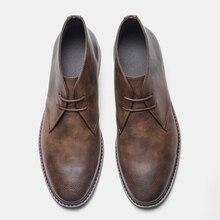 Größe 7-12 Männer Wüste Stiefel Retro Amerikanischen stil Männer Stiefeletten # KD581