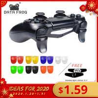 Dados sapo 1 pares l2 r2 botões extensores de gatilho gamepad almofada para playstation 4 ps4/ps4 magro/pro controlador de jogos acessórios