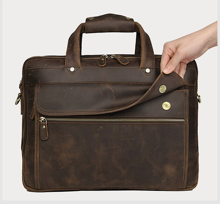 H2233708670a54a47976e535f08c9e6fac MAHEU Vintage Leather Mens Briefcase With Pockets Cowhide Bag On Business Suitcase Crazy Horse Leather Laptop Bags 2019 Design