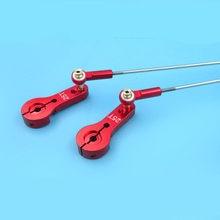 1 conjunto m2 conjunto de articulação pushrod 2mm l110/120mm pull rod + 25 t metade servo braço chifre bola conjunta/bola cabeça haste termina para rc modelo barco