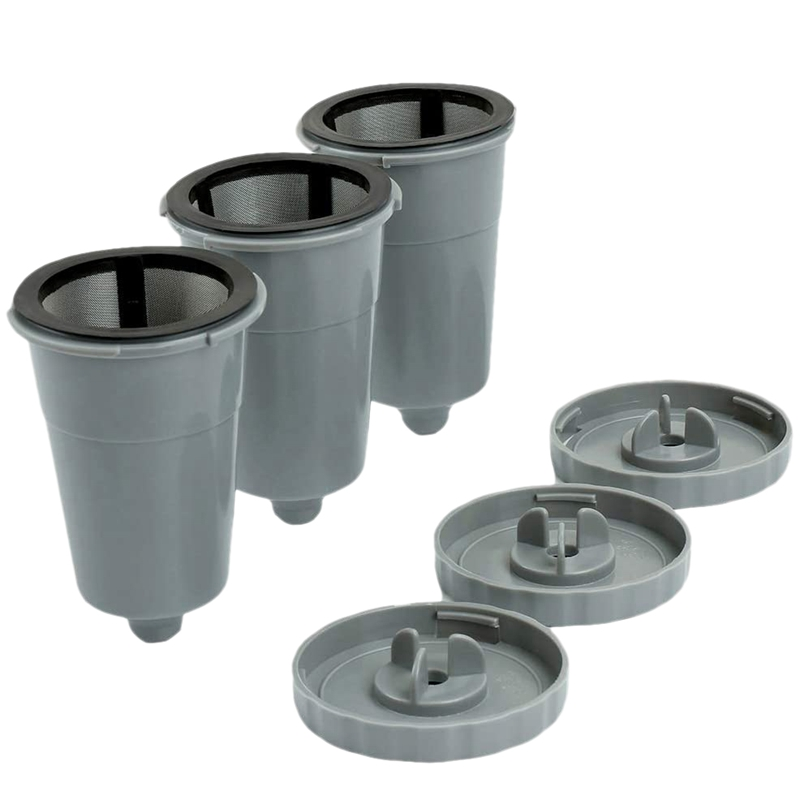 3 Reusable K Cups for Keurig 1.0 Brewers,Easy to Use Refillable Single Cup Coffee Filters, Stainless Steel Mesh Filter