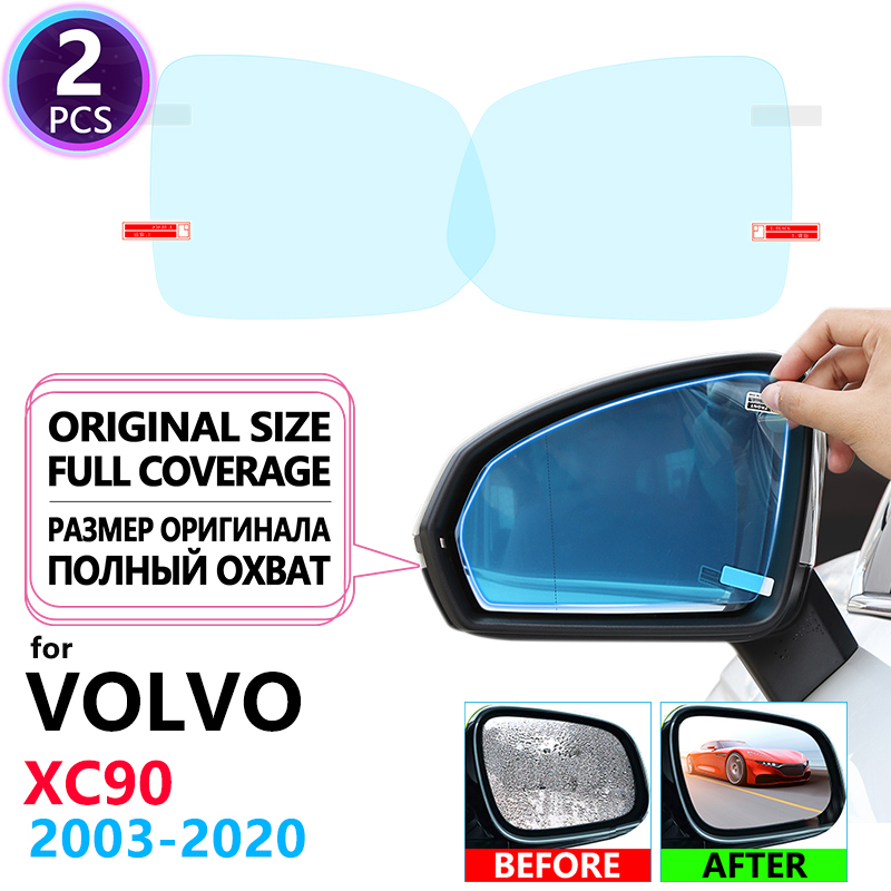 Full Cover Anti Fog Film Rainproof Rearview Mirrors for <font><b>VOLVO</b></font> <font><b>XC90</b></font> 2003~2019 Car <font><b>Accessories</b></font> 2007 2009 2011 2015 <font><b>2016</b></font> 2017 2018 image