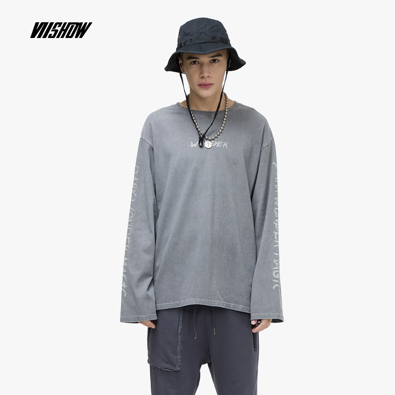 VIISHOW Streetwear Printed Men's T-Shirts Brand Cotton Long Sleeve T Shirt 2019 New Round Neck Tshirt Pullover Clothes TC1222191