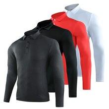 Гольф одежда мужские Длинные рукава спортивные рубашка костюмы