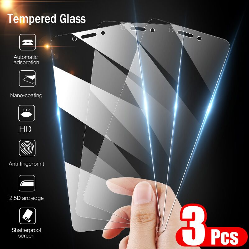 3PCS 9H Tempered Glass For <font><b>Xiaomi</b></font> <font><b>Redmi</b></font> Note 5 <font><b>6</b></font> Pro 7 Screen Protector Protective Glass For <font><b>Xiaomi</b></font> <font><b>Redmi</b></font> <font><b>6</b></font> 6A 5 Plus Glass image