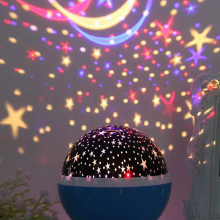 Nightlight-Lamp Led-Projector Moon-Night-Light Bedroom Christmas-Gift Rotating-Operated