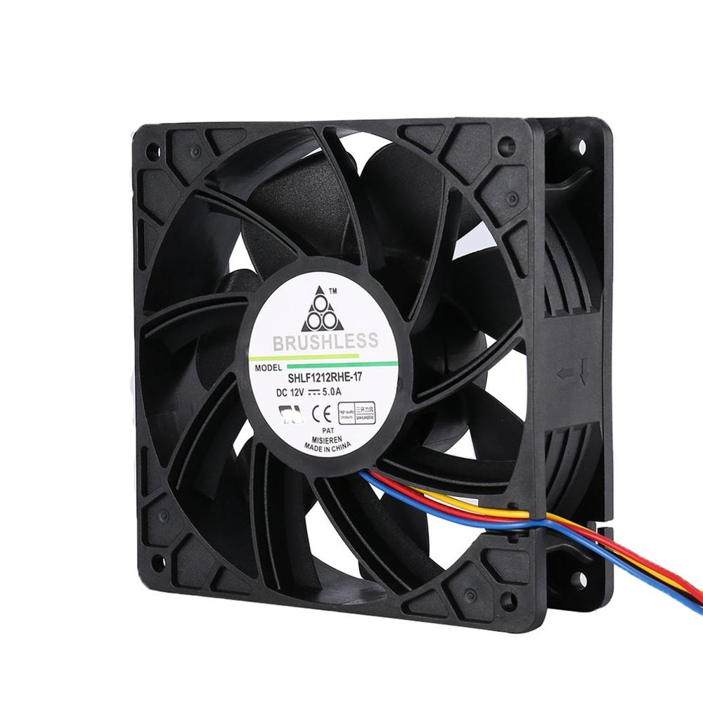 LESHP 7500RPM DC12V 5.0A Miner Cooling Fan For Antminer Bitmain S7 S9 4-Pin Connector Brushless Replacement Cooler Low Noise