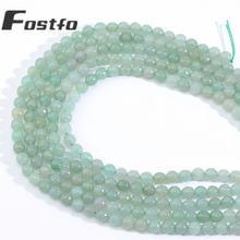Fostfo высокого качества природных камней граненый зеленый авантюрин