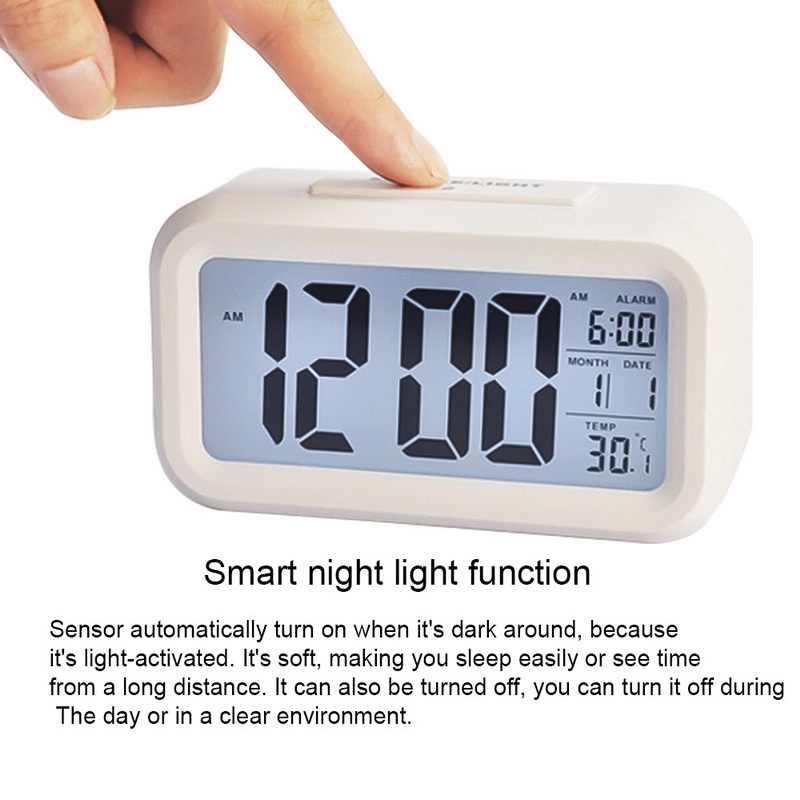 Gran pantalla con calendario para oficina en casa, reloj de mesa de viaje, reloj electrónico para niños, relojes digitales LED de escritorio