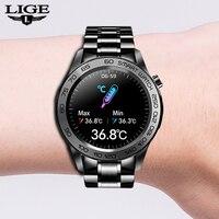 LIGE-reloj inteligente para hombre y mujer, accesorio de pulsera de lujo resistente al agua con pantalla táctil, compatible con Android e IOS, 2021