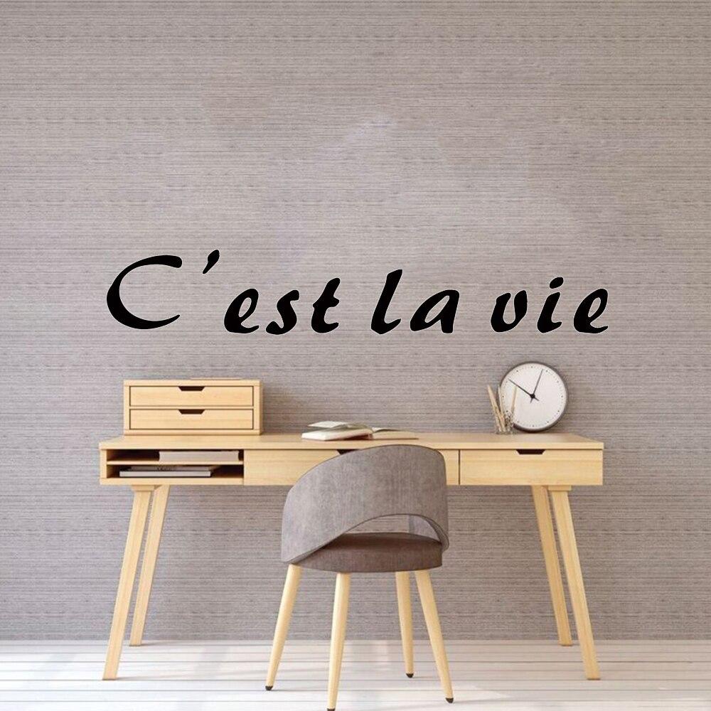 Diy French C Est La Vie Love Wall Stickers Modern Fashion Wall