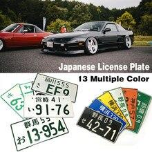 Auto Motorrad Japanischen Lizenz Platte Aluminium Tag Für JDM RACING Motorrad Auto Dekoration Kennzeichen Für Universal Auto