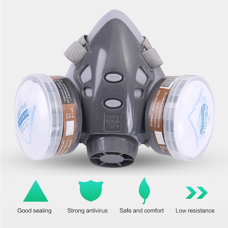 H2234660a128d42a49b57a1da92031b75L Full Facemask Respirator Gas Mask Filter Dust Protective Facepiece Mask For Paint Spraying M26 20 Dropship