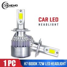 Car Led Headlight LED Fog Light High Power Bulbs Auto H7 COB Super Bright