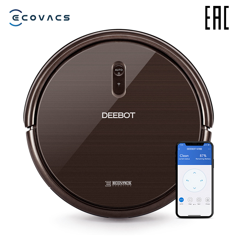 ECOVACS aspiradora robot Deebot N79S con máxima potencia de succión con soporte WiFi y control desde smartphone