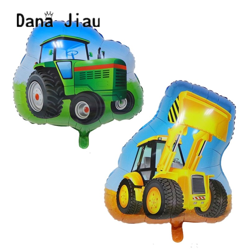 NEW Farm tractor bulldozer Foil balloons Ice cream car helium balloon baby shower boy Birthday party decoration Kids toy Globos