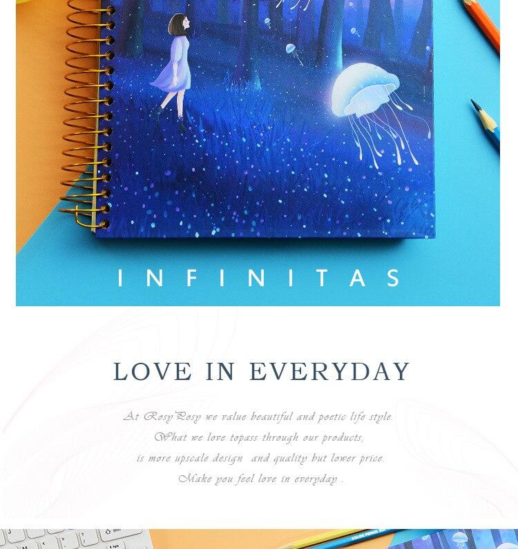 Criativo conto de fadas bobina caderno bonito