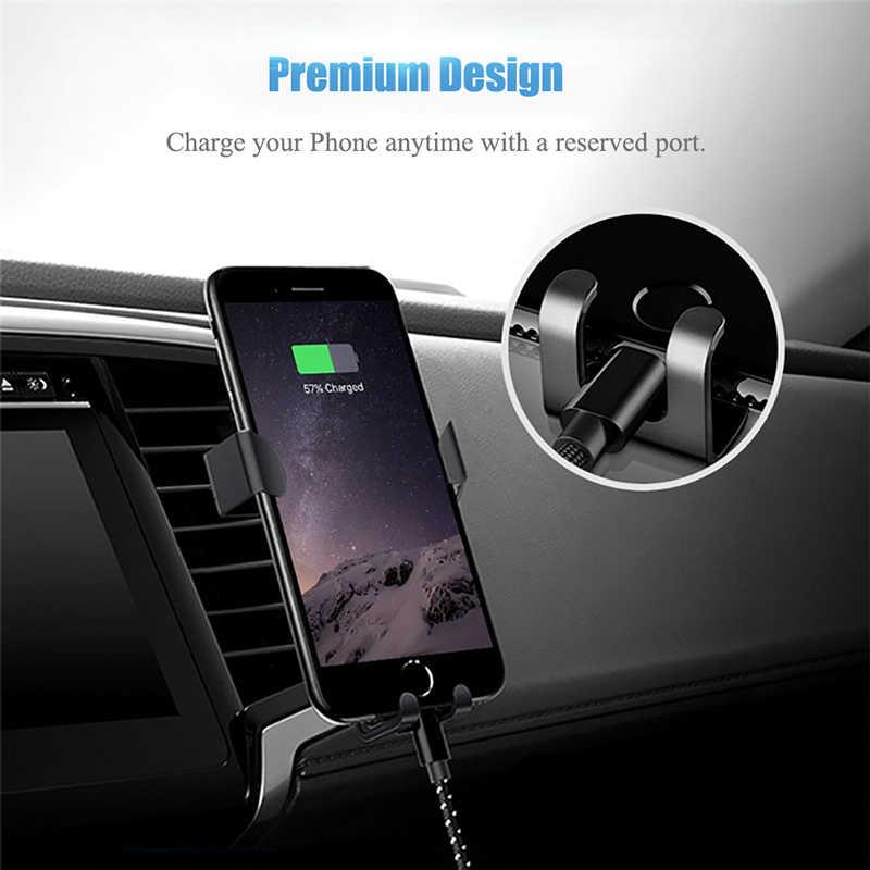 Evrensel yerçekimi araç telefonu tutucu Samsung Huawei Xiaomi için desteği hava firar araba iPhone için standı 11 Samsung desteği araba tutucu