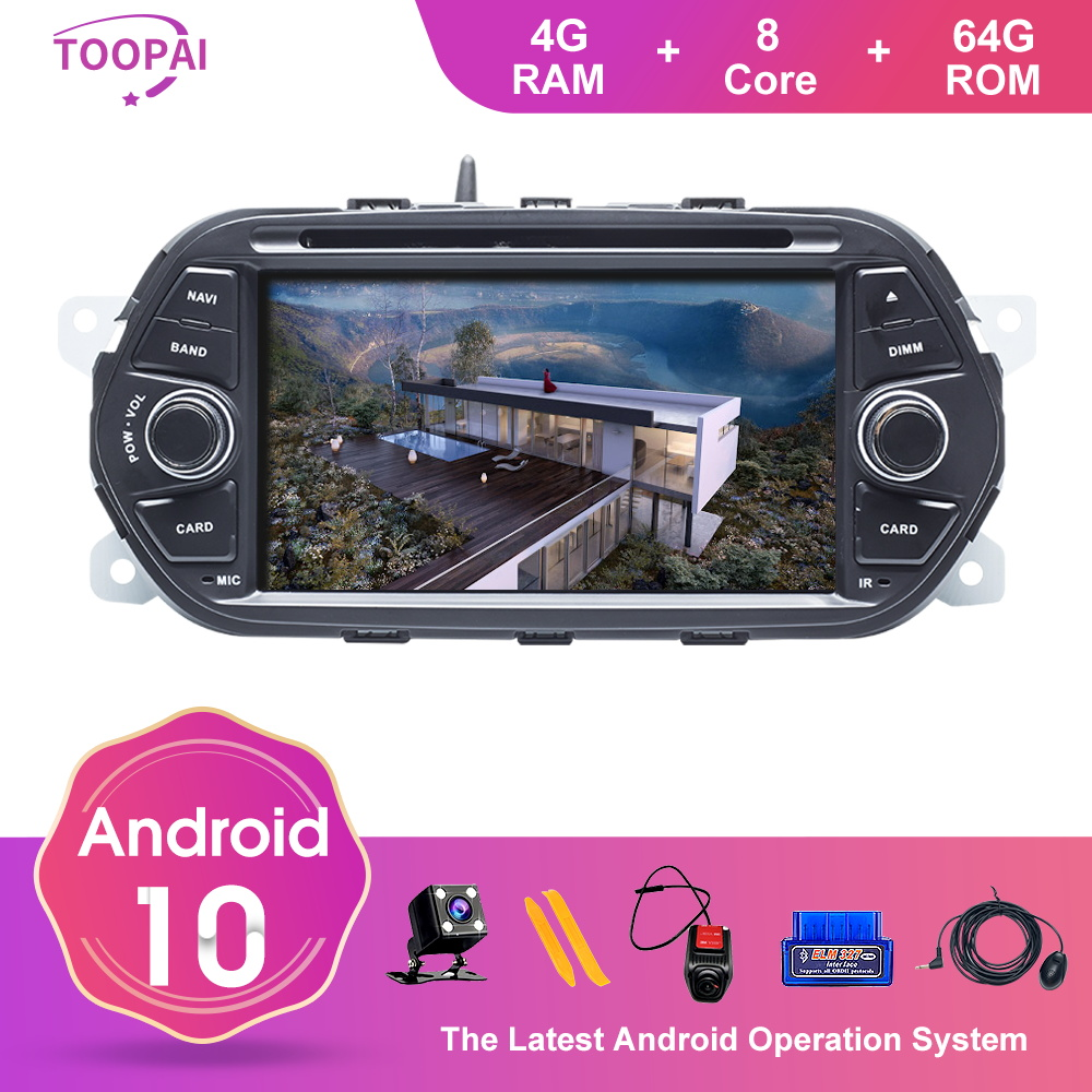 TOOPAI Android 10 For FIAT EGEA TIPO 2005 GPS Navigation Multimedia Player Auto Radio Unit DVD CD Player 3G 4G Wifi Bluetooth image