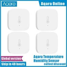 הגלובלי 100% מקורי Aqara חכם אוויר לחץ טמפרטורת לחות סביבת חיישן לעבוד עבור Xiaomi IOS APP בקרת במלאי