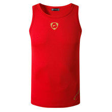 jeansian Sport Tank Tops Tanktops Sleeveless Shirts Running Grym Workout Fitness Slim Compression LSL3306 Red(China)