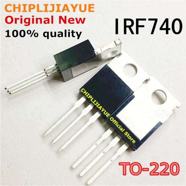 10 adet IRF740 TO220 740 IRF740PBF TO 220 yeni ve orijinal IC yonga seti