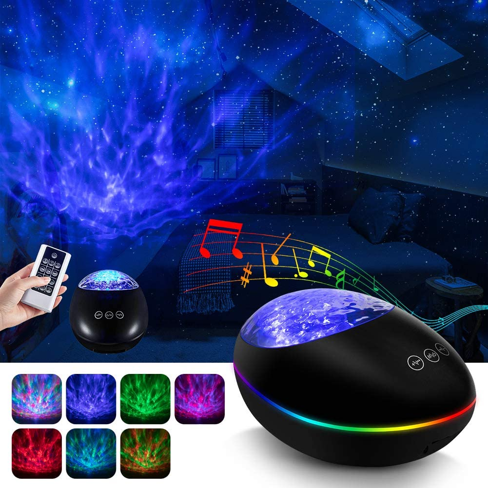 Colorful Starry Sky Projector Blueteeth USB Voice Control Music Player LED Night Light Romantic Projection Lamp Birthday Gift 5