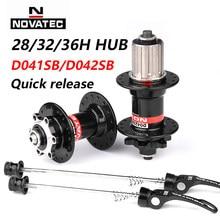 Ступица Novatec D041SB D042SB, дисковый тормоз для горного велосипеда с 28/32/36 отверстиями, подшипник для горного и дорожного велосипеда 36 H, ступицы 8/9/...