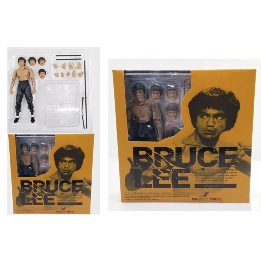Bruce Lee Garage Kit SHF Fully Mobile Figurine Decoration 75 Anniversary Model Garage Kit-Deluxe Edition