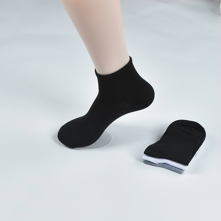Men's Socks Thin Pure-color Business Socks Sweat-absorbing and Air-permeable Men's Socks