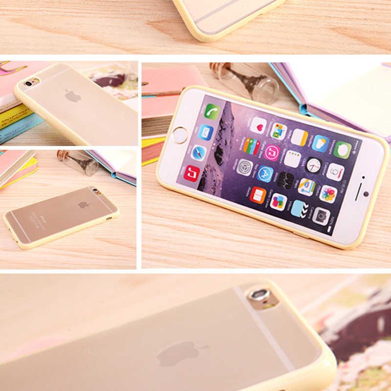 Capa de telefone acrílica transparente para o iphone x xr 6 6p 7p 8p ampla cor lateral all inclusive gota proteção traseira