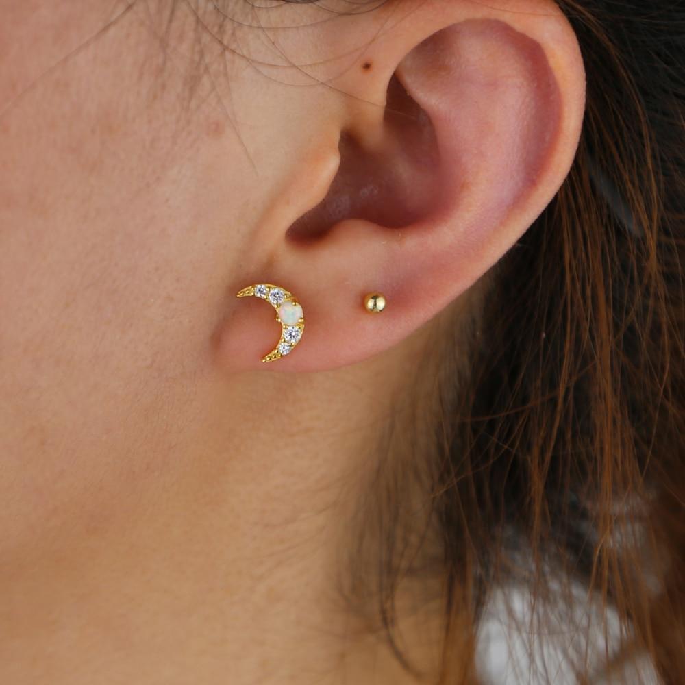 SILVER H opal moon stud (8)
