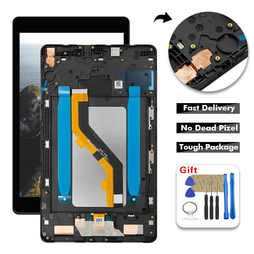 Для Samsung Tab A 8,0 2019 T290 T295 SM-T290 SM-T295 ЖК-дисплей сенсорный дигитайзер стекло в сборе + рамка